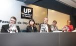 """El panel de periodistas durante la conferencia """"La relación entre Justicia y prensa. Estado de Derecho, libertad de expresión y acceso a la información"""" (Foto gentileza cij.gov.ar)"""